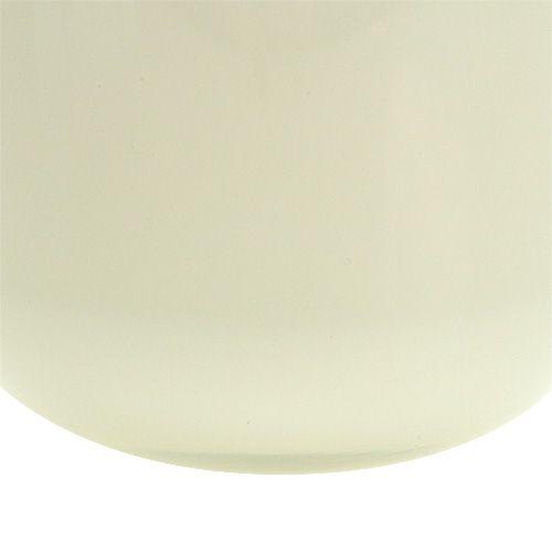 Blumentopf aus glas 12 5cm h11cm creme preiswert online for Blumentopf glas
