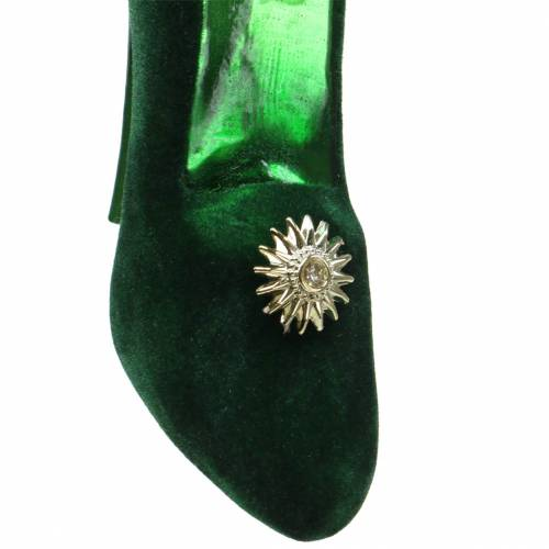 Samtene Glasschuhe Grün 12cm 2St