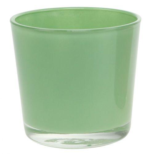 Glastopf Ø11,5cm H10,8cm Mintgrün