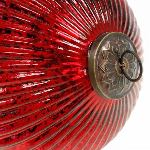 Weihnachtsdeko zum Hängen Glaszapfen Rot Gigant 27cm