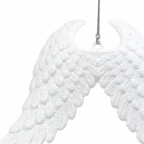 Christbaumschmuck Engelsflügel Glitter Weiß 16cm 12St