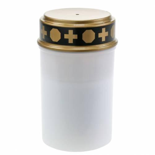 LED Grablicht Weiß, Warmweiß Timer Batteriebetrieben Ø6,8 H12,2cm 6St
