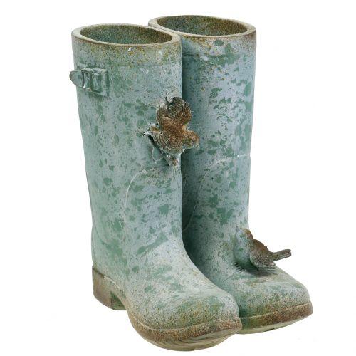 Pflanztopf Stiefel-Paar Vintage H26cm