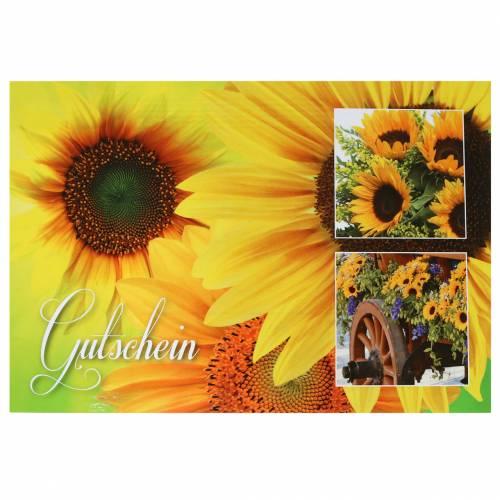 Gutschein Sonnenblume mit Umschlag 5St