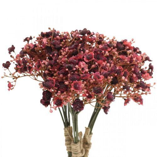 Schleierkraut künstlich Rot Kunstblumen Herbst 29,5cm 18St
