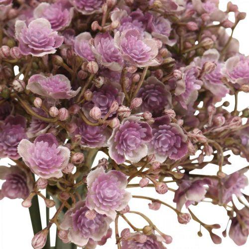 Schleierkraut künstlich Violett Herbstdeko 29,5cm 18St
