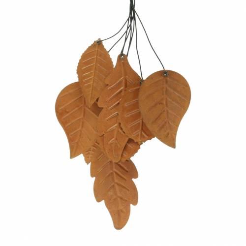 Dekohänger Herbst-Blätter Edelrost Metall H25cm 2St