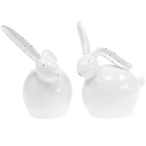 Keramik Hase Weiß 14cm 2St