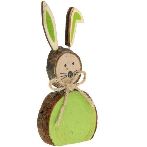 Deko Hase Holz farbig sortiert 10cm 8St