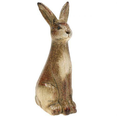 Deko Hase Braun Keramik 5cm x 12,5cm