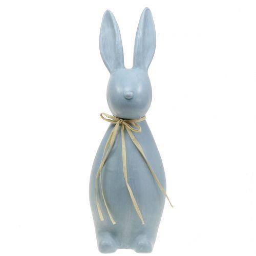 dekorativer Deko-Osterhase Filz-Hase grau und weiß Preis für 2 Stück