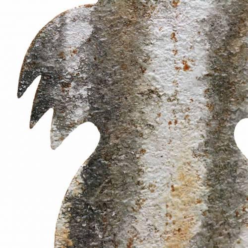 Osterdeko Hase zum Stecken Rost Birkenoptik Metall 16,5×32cm