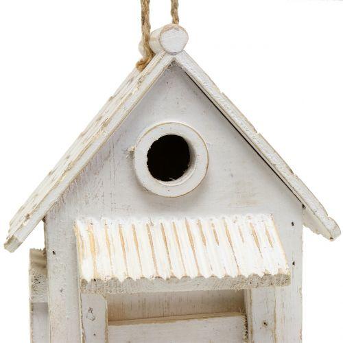 Vogelhaus zum Hängen Weiß H25,5cm
