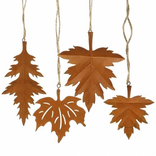 Herbstblätter Edelrost zum Hängen 13cm 8St