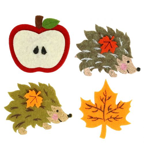 Herbstdeko zum Streuen und Kleben Filz 12St
