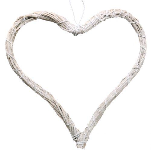 Herz offen Weiß 20cm 6St