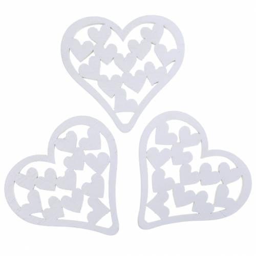 Streudeko Herz Weiß 5cm 40St