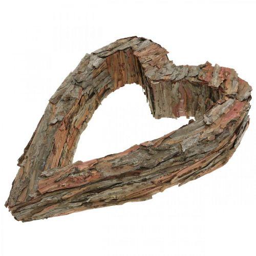 Deko Herz Holz Pinienrinde 40×32cm