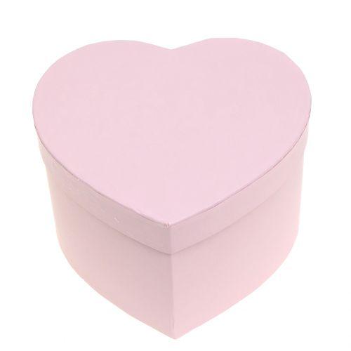 Blumenbox Herz Rosa 14/16cm 2St