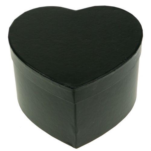 Blumenbox Herz Schwarz 18/20cm 2St