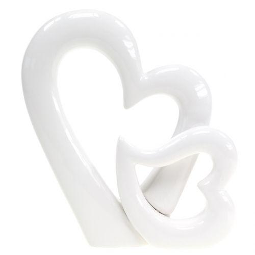 Deko-Skulptur Herzen H15cm 2St