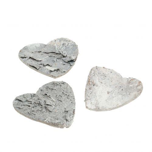 Herzen Weiß aus Birkenrinde 5cm 60St