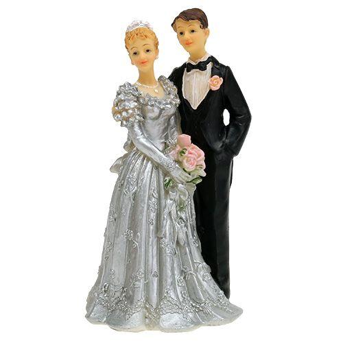 Hochzeitpaar für Silberhochzeit 14cm