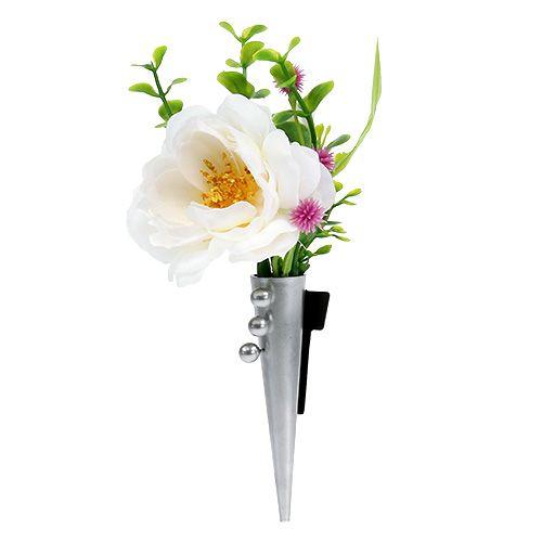 Hochzeitsanstecker Mit Magnet Glanzend Silber 7cm 70050glanzend Preiswert Online Kaufen
