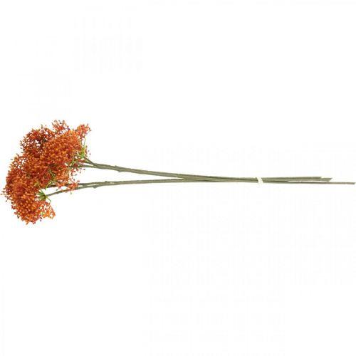 Holunder Orange Künstlicher Blütenzweig 52cm 4St