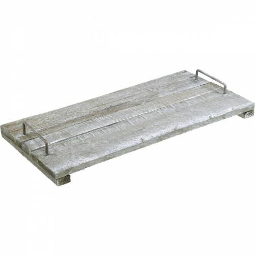 Holz-Tablett mit Füßen, Tischdeko im Shabby Chic, Deko-Tablett, Vintage 50cm