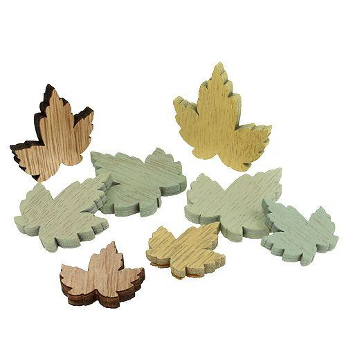 Holzblätter Ahornblätter Pastell Mix 3cm - 4,5cm 24St