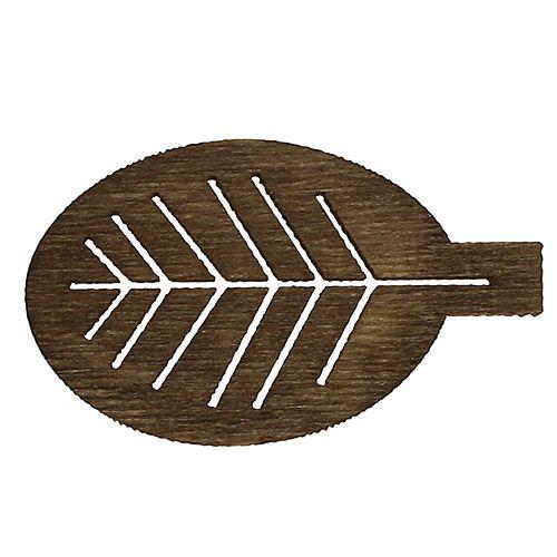 Holzblätter sortiert 4cm Natur 72St
