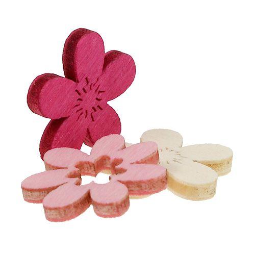 Holzblumen streu deko 2cm pink sort 144st preiswert for Pink deko