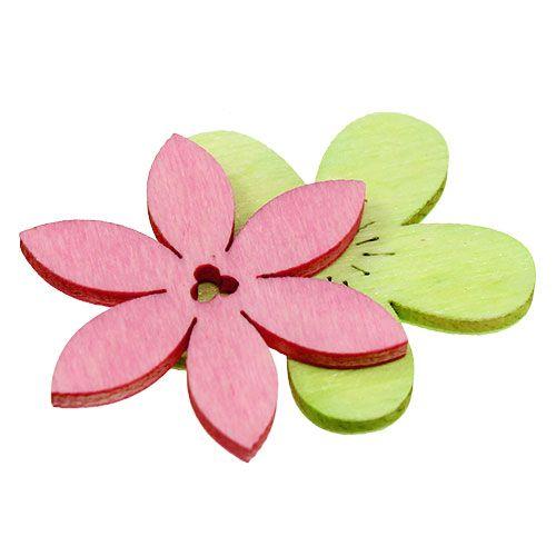 Holzblumen 4cm Pastell sort. 72St