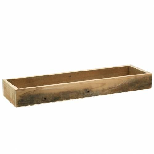Holztablett Natur 55,5cm x 15cm H6,4cm