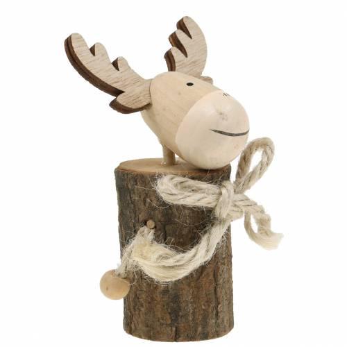 Weihnachtsdeko Elch Holz 12,5cm