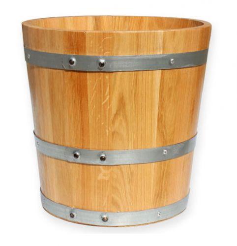 Pflanzkübel Holzfass Eiche Ø39cm preiswert online kaufen