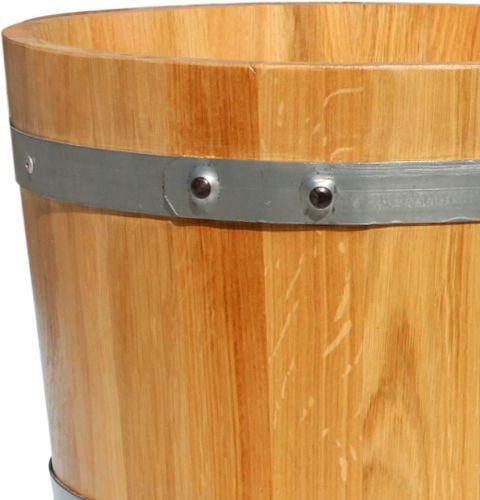 pflanzk bel holzfass eiche 39cm preiswert online kaufen. Black Bedroom Furniture Sets. Home Design Ideas