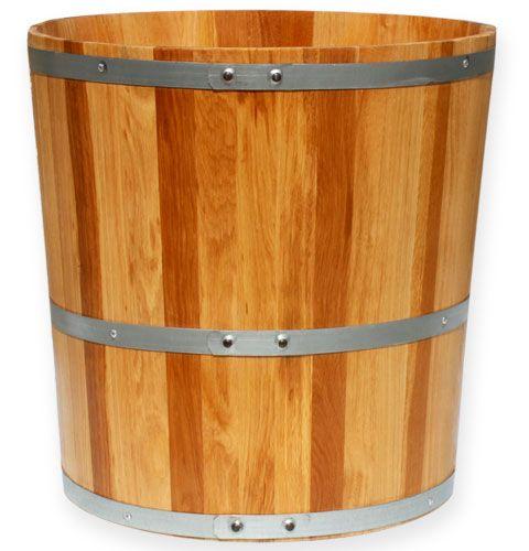 pflanzk bel holzfass eiche 58cm preiswert online kaufen. Black Bedroom Furniture Sets. Home Design Ideas
