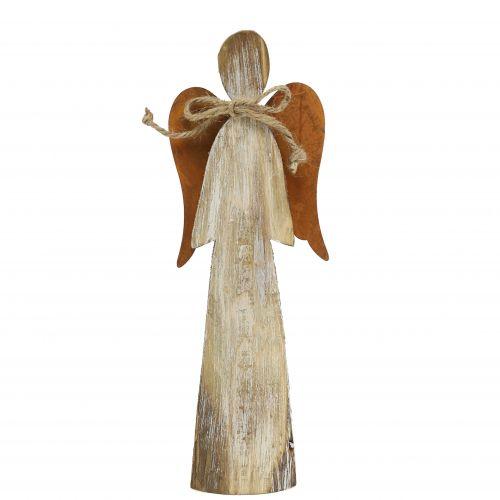 Holzfigur Engel Rost 28cm