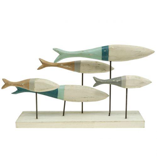 Holzfische auf Standfuß 34cm x 16cm x 7,5cm