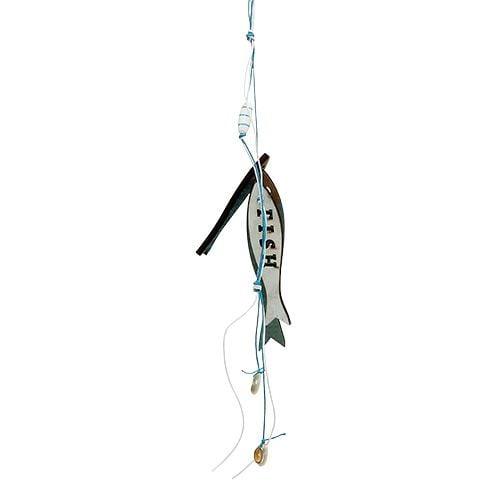 Holzhänger Fische Blau 36cm 4St