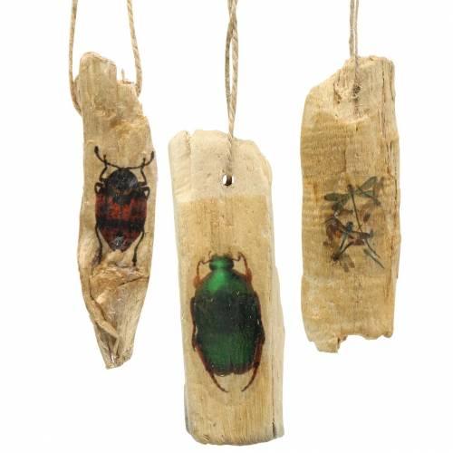 Dekohänger Insekten Holz 9-13cm 36St