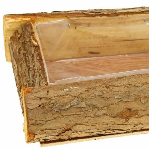 Pflanzkasten Holz Natur 40cm x 15cm H6cm