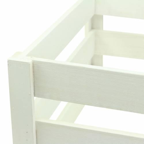 Holzkiste Weiß 43,5cm/37,7cm/31,8cm 3er-Set