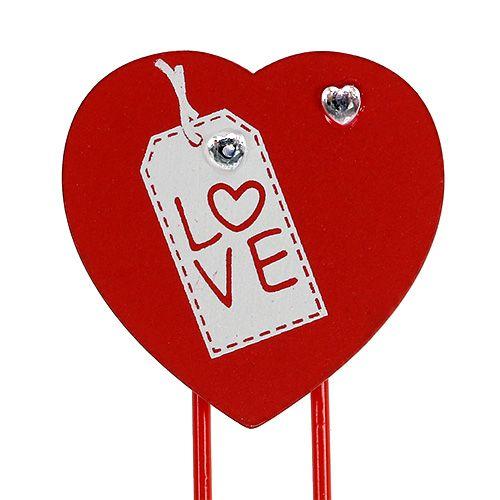 """Holzklammern Herz """"Love"""" Dekoherz Valentinsgeschenk 2St"""