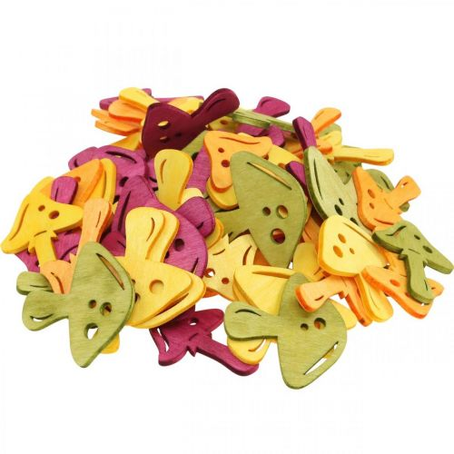 Streudeko Pilze, Herbstdeko, Glückspilze zum Dekorieren Orange, Gelb, Grün, Pink H3,5/4cm B4/3cm 72St