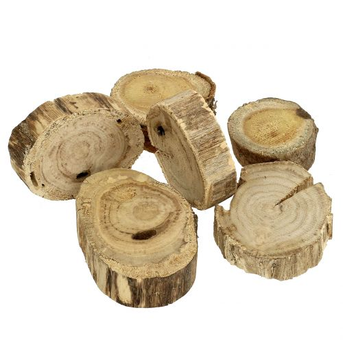 Holzscheiben Holzringe Natur 500g