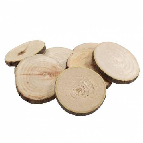 Holzscheiben rund Natur Ø3,5–5cm 400g im Netz