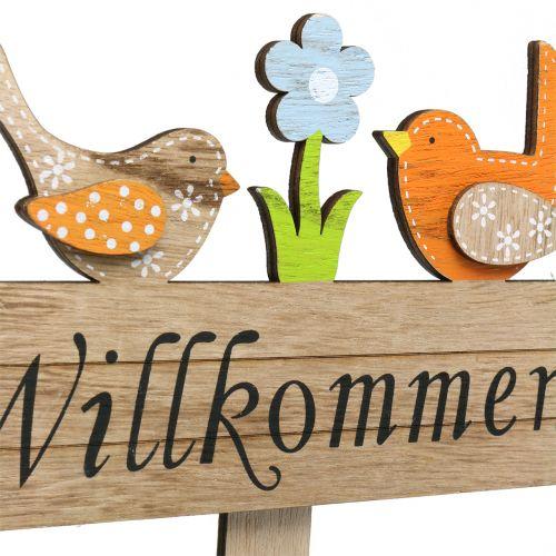 Holzstecker Willkommen Vogel H52cm 4St